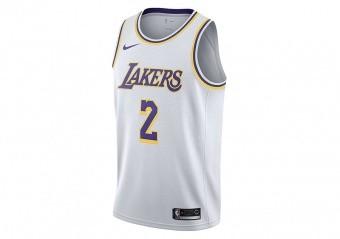 NIKE NBA LOS ANGELES LAKERS LONZO BALL SWINGMAN JERSEY WHITE