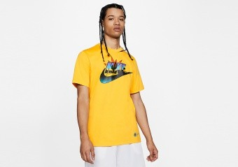 NIKE FUTURA BASKETBALL TEE UNIVERSITY GOLD