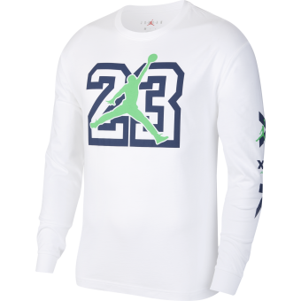 JORDAN LEGACY AJ13 LONG-SLEEVE TEE WHITE