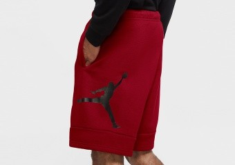 NIKE AIR JORDAN JUMPMAN AIR FLEECE SHORTS GYM RED