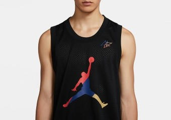 NIKE AIR JORDAN SPORT DNA HBR JERSEY BLACK