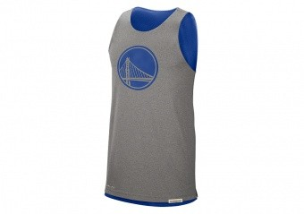 NIKE NBA GOLDEN STATE WARRIORS STANDARD ISSUE REVERSIBLE TANK RUSH BLUE