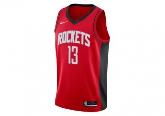 NIKE NBA HOUSTON ROCKETS JAMES HARDEN ICON EDITION SWINGMAN JERSEY UNIVERSITY RED