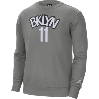 NIKE NBA BROOKLYN NETS FLEECE CREW HOODIE