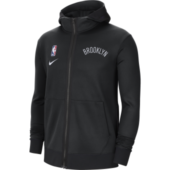 NIKE NBA BROOKLYN NETS SHOWTIME THERMA FLEX HOODIE