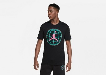 NIKE AIR JORDAN WINTER UTILITY MOUNTAINSIDE JUMPMAN TEE BLACK