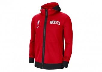 NIKE NBA HOUSTON ROCKETS SHOWTIME THERMA FLEX HOODIE UNIVERSITY RED