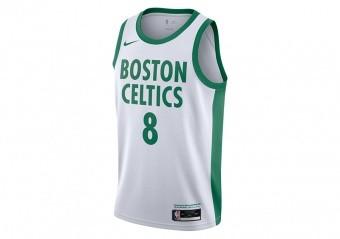 NIKE NBA BOSTON CELTICS KEMBA WALKER CITY EDITION SWINGMAN JERSEY WHITE