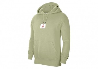 NIKE AIR JORDAN FLIGHT FLEECE PULLOVER HOODIE CELADON