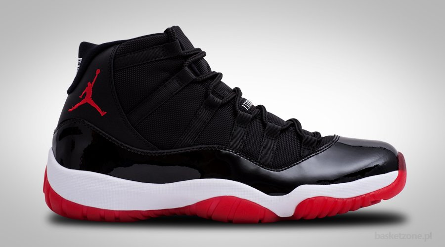NIKE AIR JORDAN XI 11 RETRO BRED BLACK