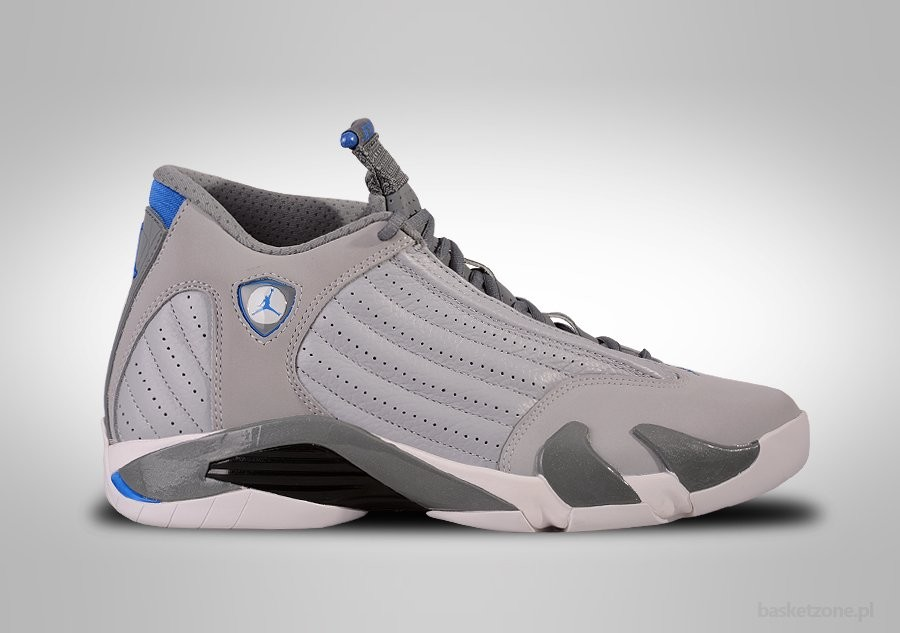 new style a5e2f 46e9d NIKE AIR JORDAN 14 RETRO WOLF GREY SPORT BLUE