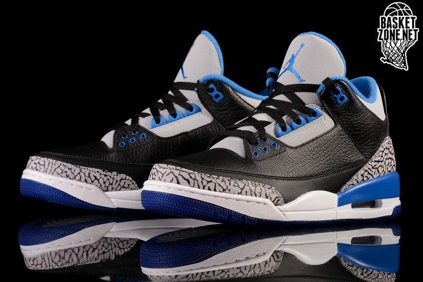 separation shoes 0f586 e75ab ... greece nike air jordan 3 retro black sport blue gs grade school smaller  sizes 5a040 b4eab