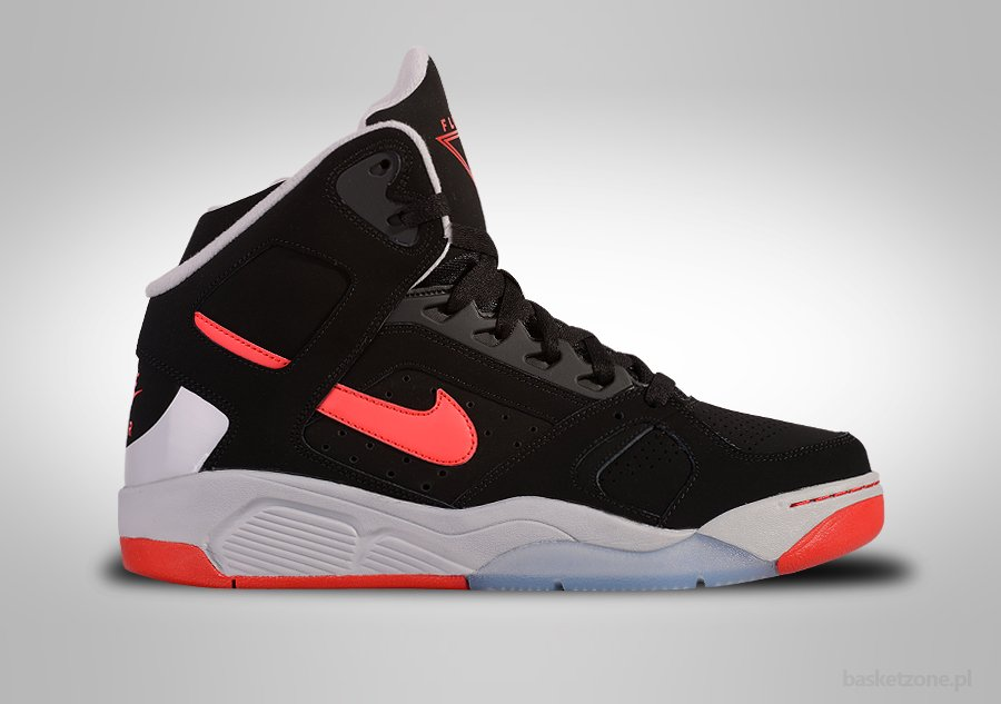 NIKE AIR FLIGHT LITE HIGH BLACK UNIVERSITY RED