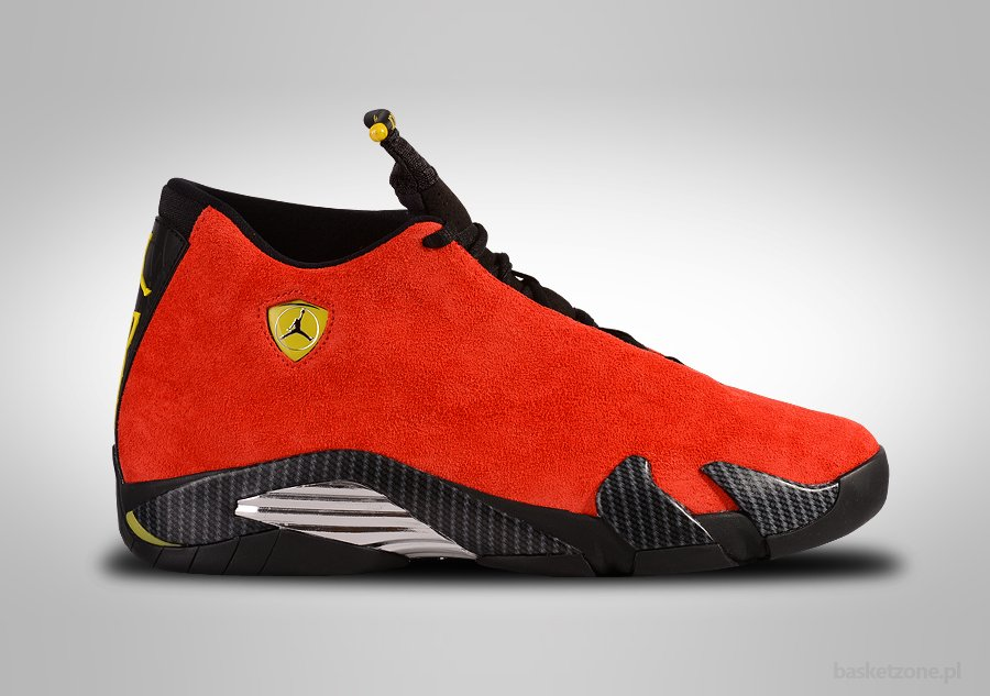NIKE AIR JORDAN 14 RETRO FERRARI per €277,50 | Basketzone.net Nike Basketball Shirts