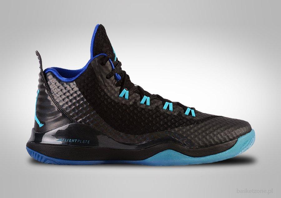 Uomo Nike Jordan super.fly 3 PO Scarpe Numeri 9.5 NERO BLU BIANCO 724934 017